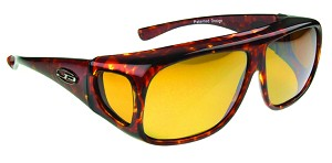 "Jonathan Paul Navigator Fitovers Sunglasses 5 1/2"" x 2"" Tortoise with Yellow Lenses"
