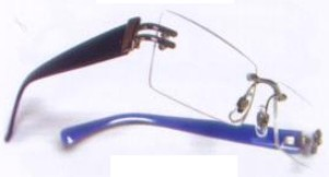Rimless rectangle Bifocal Glasses